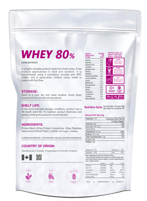 Whey 80% Protein Concentrate (2000 Г)